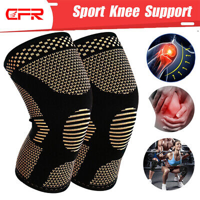 Copper Compression Knee Brace Support Sleeve Arthritis Pain Relief Sports Gym AU