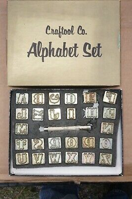 Craftools Box Of 26 Upper Case Alphabet Leather Stamps