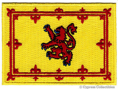 Scottish Royal Flag Patch Scotland Embroidered Iron-On Lion Rampant Yellow