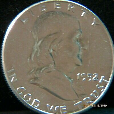 1952   Franklin  U.S. Half  Dollar silver  coin  (BRILLIANT  UNCIRCULATED)
