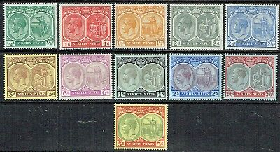 St Kitts- Nevis 1920-21 Kgv.short Set To 5/- Mlh As Is See Scan
