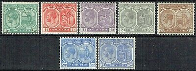 ST KITTS- NEVIS 1921-22 KGV.SHORT SET TO 3d MLH AS IS SEE SCAN