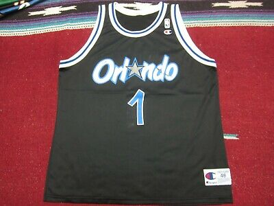1e1fde1c5f3 VTG 90s Champion NBA Orlando Magic  1 Penny Hardaway Jersey Shirt Black 48  XL