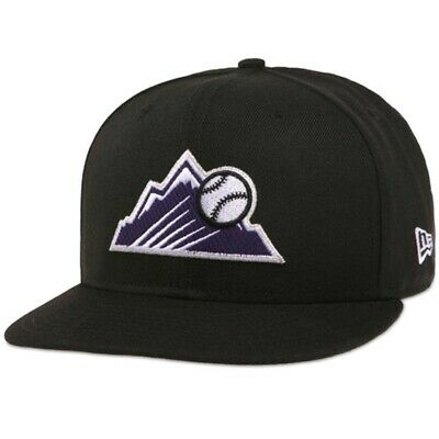 7fd456378ed Colorado Rockies Alternate Logo  New Era 59Fifty Fitted Hat  Size 7 3 4