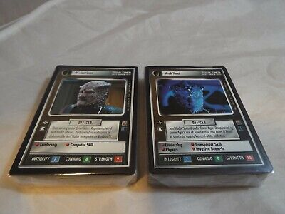 Star Trek Ccg Dominion Complete Common And Uncommon Set Of 80 Cards