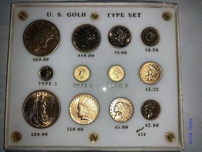 12 Coin Pre1933 Us Gold Coin Type Set Nice Look