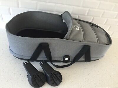 Bugaboo Bee 3 Gray melange Bassinet complete with adapters.