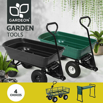 Gardeon Garden Cart Trolley Wagon Dump Cart Trailer Lawn Wheelbarrow Yard Farm