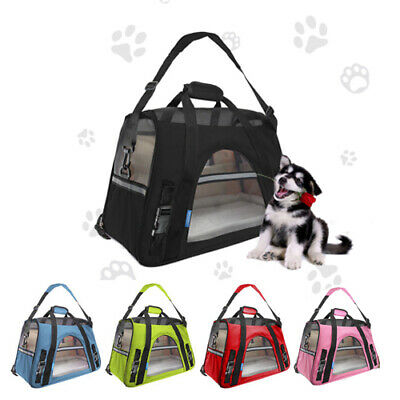 Pet Carrier Soft Sided Large Dog/Cat Comfort Travel Bag Oxford Airline Approved