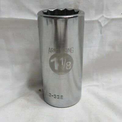 """Armstrong 11//32/"""" Deep Well Socket 1//4/"""" Drive 12 point 10-311"""