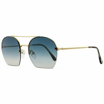 a37b236509 Tom Ford TF506 Antonia 28W Womens Gold Turqouise Havana 55 mm Sunglasses -
