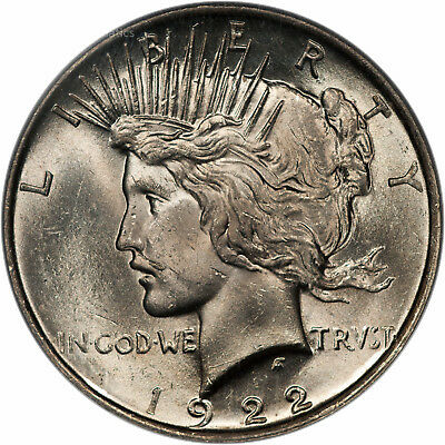 1922 Peace Dollar $1 PCGS MS 63 CAC Approved (84745301) Top 50 Vam 12A Moustache