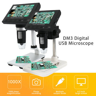 Elettronico Microscopio Digitale 1000X Oculare USB HD Camera 4.3 pollici DM2