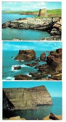 Postcards Shetland Coastal Views Scotland Broch Of Mousa Etc Vintage 1960S