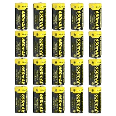 20X Nitecore NL166 RCR123A 16340 Protected 650mAh Rechargeable Li-ion Batteries