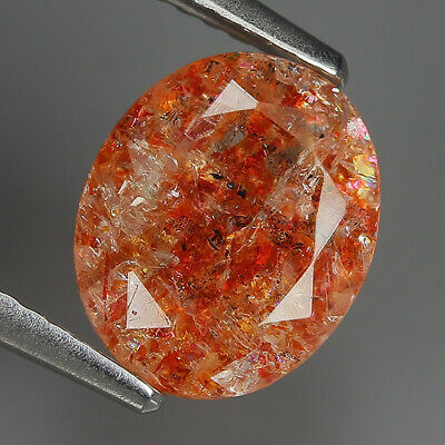 Sporty 2.18 Ct Natural Africa SUNSTONE Oval Gemstone @ See Video !!