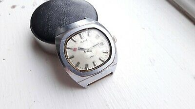 Old vintage SLAVA cccp mechanical watch working !