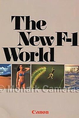Canon F1, The New F-1 World Camera & FD Lens Book, NOS. BRAND NEW, Old Stock