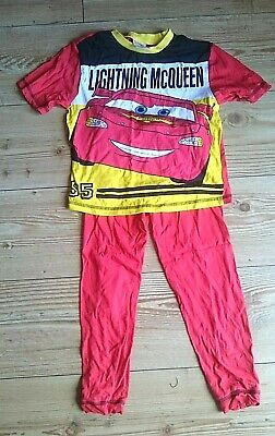 Lightning McQueen PJ's Pyjamas T-Shirt & Bottoms Trousers Red Age Size 5-6 Years