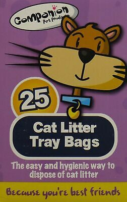 25 Pk Cat Litter Tray Liners Kitten Hygienic Standard Pet Waste Disposable Bag