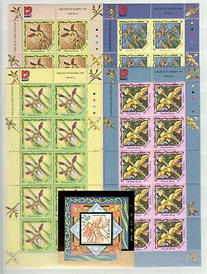 A106554/ Namibia / Orchid / Y&t # 896 / 899 (Sheets) – Bf57 Mnh Complete