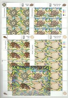 A106556/ Namibia / Anemone / Y&t # 856 / 859 (Sheets) – Bf47 Mnh Complete