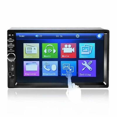 """7"""" 2 Din Car MP5 FM Player USB/TF AUX In Bluetooth Touch HD Screen Stereo Radio"""