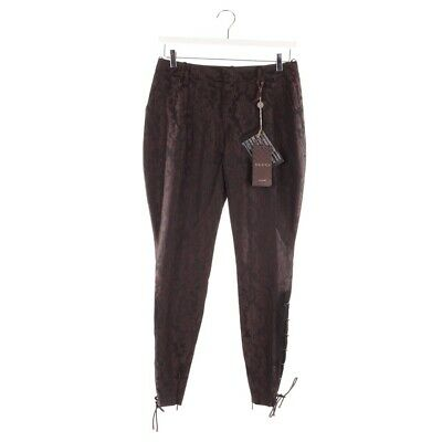 GUCCI PANTALONI TGL De 34 It 40 Nero Marrone Donna Nuovo in Stoffa ... 92113a1358db
