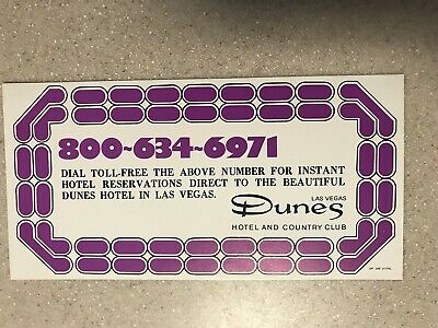 Dunes Hotel & Country Club Instant Hotel Reservations Advertisement Las Vegas Nv