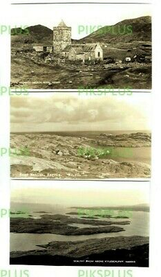 Scottish Island Postcards Isle Of Harris Scotland Real Photos 1950S Note Trimmed