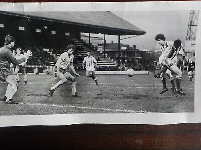 STOCKPORT COUNTY-Edgeley Park-Original REAL photo from early 1980's match