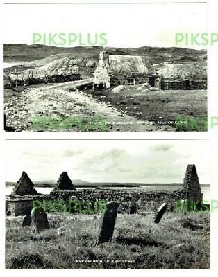 Postcards Bernera & Eye Church Isle Of Lewis Scotland Real Photos Vintage 1950S