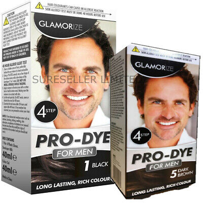 2 X Mens Hair Dye Permanent Hair Colour Black Or Brown Colouring Beard Creme