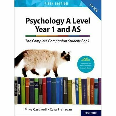 The Complete Companions for AQA A Level Psychology 5th - Paperback / softback N