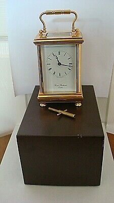 Vintage Good Brass Cased Thomas Braithwaite London 8 Day Carriage Clock Boxed