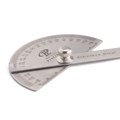 Stainless Steel Transferring Angles Arm Protractor Measuring Ruler 180 degree