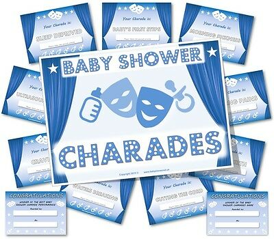 Baby Shower Party Games  /  BABY SHOWER CHARADES  /  Boy-Blue theme