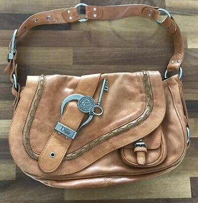 e50a1b58058e CHRISTIAN DIOR GAUCHO Saddle Bag In Tan Leather - £82.99