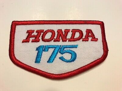 "Vintage 1970's Embroidered Honda 175 Jacket Patch 3.5"" X 2"""