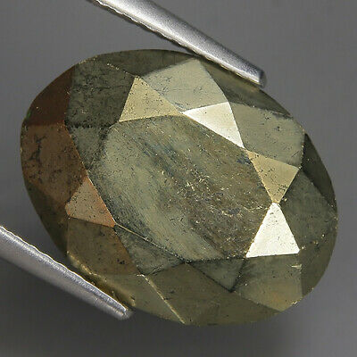 16.42 Ct Natural Brownish Balck PYRITE  Cabochon Certificate Gem @ See Vdo!!