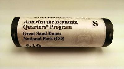 2014 S Great Sand Dunes, Co - America The Beautiful $10 Us Mint Quarter Roll