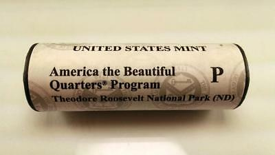 2016 P Theodore Roosevelt, Nd - America The Beautiful $10 Us Mint Quarter Roll