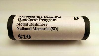 2013 D Mount Rushmore, Sd - America The Beautiful $10 Us Mint Quarter Roll