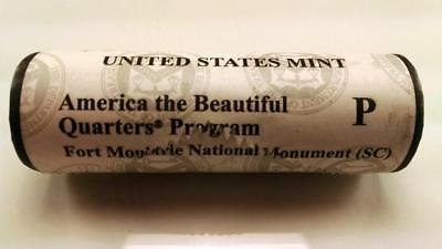 2016 P Fort Moultrie, Sc - America The Beautiful $10 Us Mint Quarter Roll