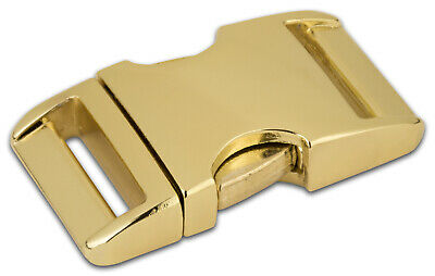 5 - 1 Inch Brass Plated Aluminum Side Release Buckles