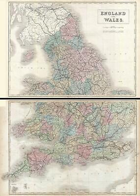 1851 Black Map of England and Wales