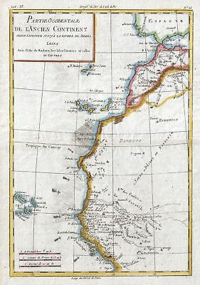 1780 Raynal and Bonne Map of Western Africa