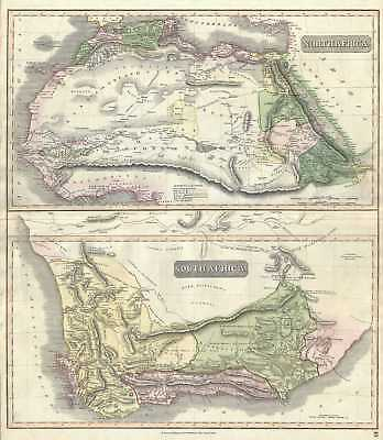 1817 Thomson Map of North Africa and South Africa