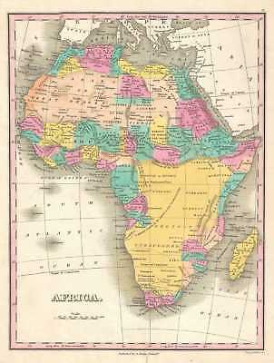 1828 Finley Map of Africa