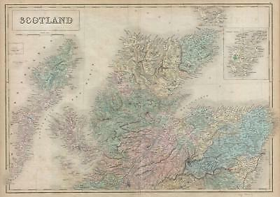 1851 Black Map of Northern Scotland